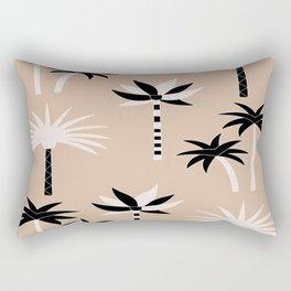 Palm Trees - Neutral Black & White Rectangular Pillow