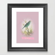 Songbird {dusky lilac} Framed Art Print