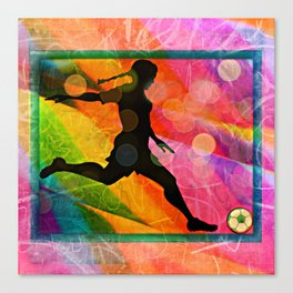 Candy soccer girl Canvas Print