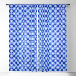 0307 Blue pattern by dots ... Blackout Curtain