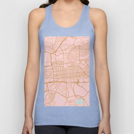 Johannesburg map, South Africa Unisex Tank Top