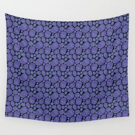 Purple Star Roses Wall Tapestry