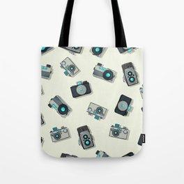 Vintage camera pattern Tote Bag