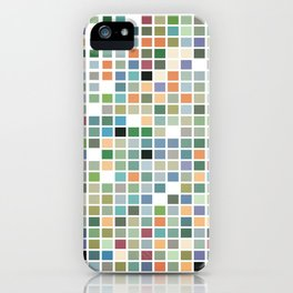 RAINBOW TILES Abstract Art iPhone Case
