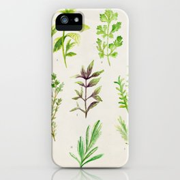 Watercolor Herbs iPhone Case