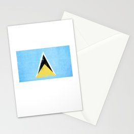 Saint Lucia Flag design | Saint Lucian design Stationery Cards