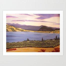 Valley Vineyard  Art Print