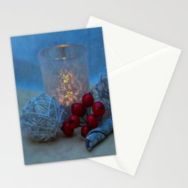 Candle- Christmas image Stationery Cards