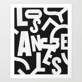Los Angeles Routes Art Print