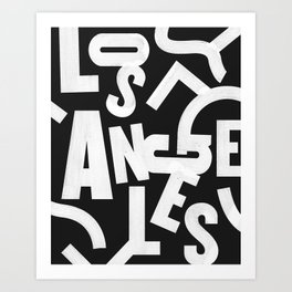 Los Angeles Routes Art Print
