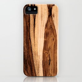 Sheesham Wood Grain Texture, Close Up iPhone Case