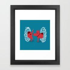 Atomic Dog Framed Art Print