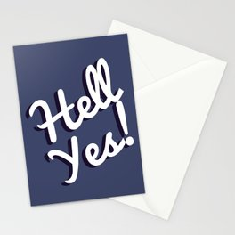 HELL YES , FOR MARRY ,COUPLE Stationery Cards