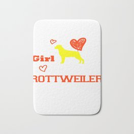 This Girl Loves Her Rottweiler Dog Breed Puppy Bath Mat