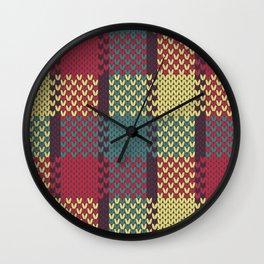 Faux Retro Gingham Wall Clock