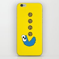 cookie monster iPhone & iPod Skins featuring Cookie monster Pacman by dutyfreak