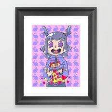 Deer boy Organs Framed Art Print
