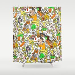 Medieval Roundup Shower Curtain