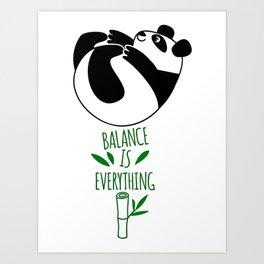 Balance Is Everything! Tumbling panda Art Print