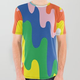 Psychedelic Meltdown All Over Graphic Tee