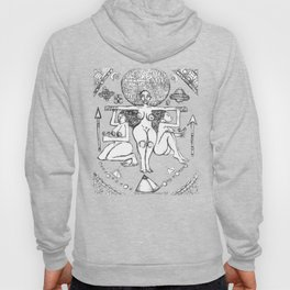 2013 Goddess of Balance (white design) art by Marcellous Lovelace Hoody