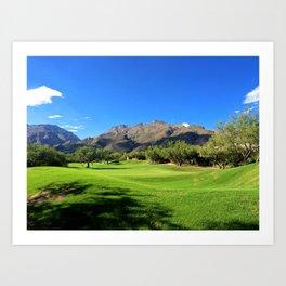 Mountains and Golf Art Print