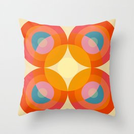 Gwyddno - Colorful Abstract Blossom Art Throw Pillow