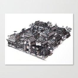 Japan - Edo Period Model City Concept 01 Canvas Print