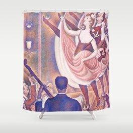 "Georges Seurat ""Le Chahut"" Shower Curtain"