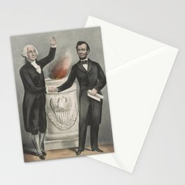 Vintage American Founding Fathers Illustration (1865) Stationery Cards