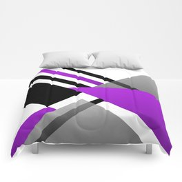 Sophisticated Ambiance - Silver & Highlighter Lavender Comforters
