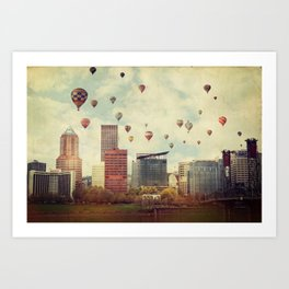 Portland Oregon Whimsy Art Print