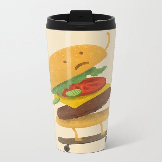 Burger Wipe-out Metal Travel Mug