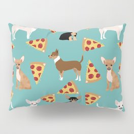 chihuahua pizza dog lover pet gifts cute pure breed chihuahuas multi coat colors Pillow Sham