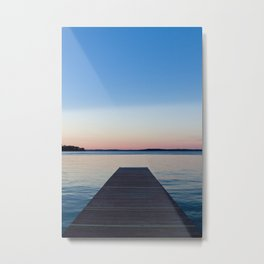 Sunset on the Dock Metal Print