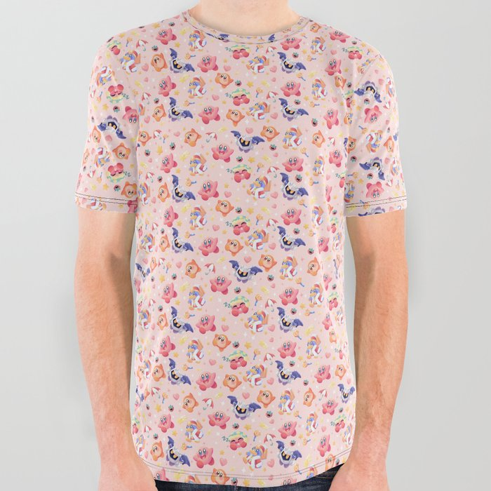 Kirby_paradise_All_Over_Graphic_Tee_by_Aguichart__Large