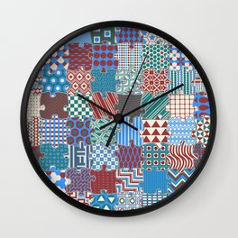 Pattern Patchwork Puzzle Wall Clock