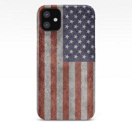 USA flag, retro style iPhone Case