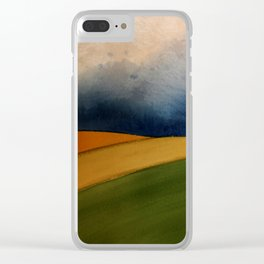 Approaching Storm Clouds Over Field Clear iPhone Case