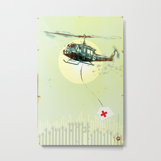 "Glue Network Print Series ""Emergency Relief"" Metal Print"