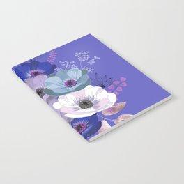 Anemones & Gardenia Blue bouquet Notebook