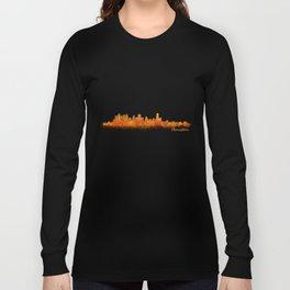 Houston City Skyline Hq v2 Long Sleeve T-shirt