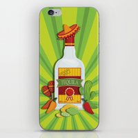 tequila iPhone & iPod Skins featuring Tequila Time by Matt Andrews