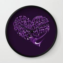 Breast Cancer Awareness Heart Wall Clock