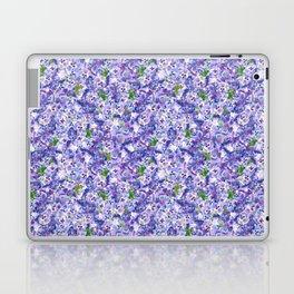 Blue velvety violets Laptop & iPad Skin
