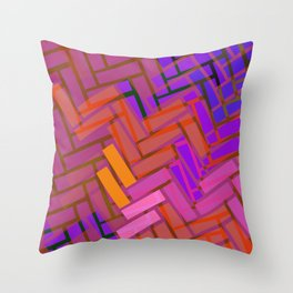 Pop Colored Blanks Throw Pillow