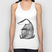 badger Tank Tops featuring Badger by Emma Jansson