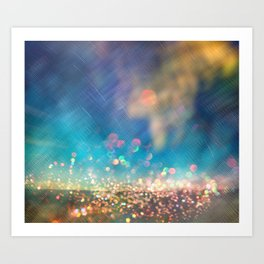Dazzling lights I Art Print