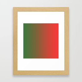 Green and Red Gradient 018 Framed Art Print