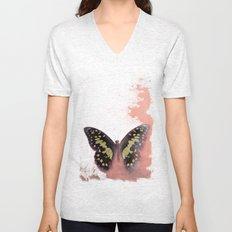 Vintage Butterfly 3 Unisex V-Neck